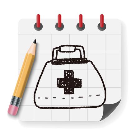 medical box: medical box doodle drawing