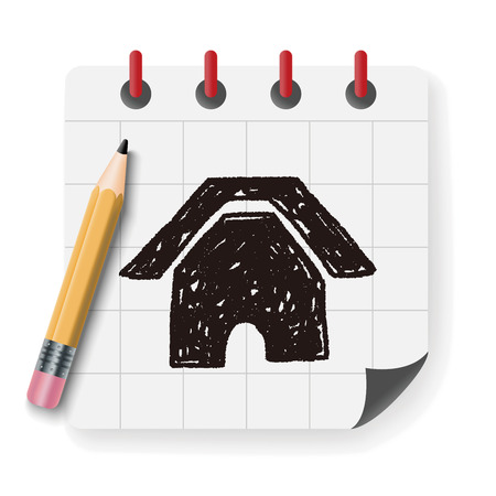 home icon: Doodle Home Illustration