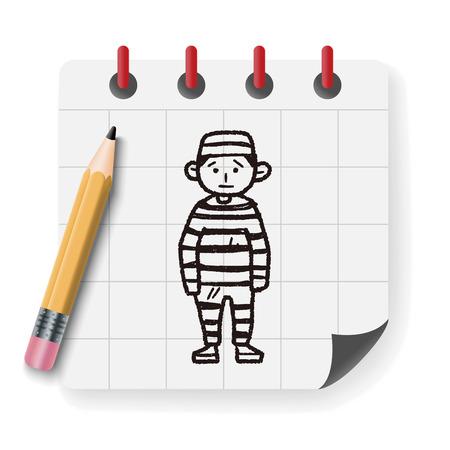 prisoner: Prisoner doodle Illustration