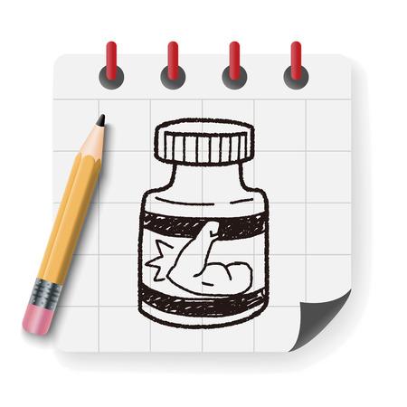 gainer: power bottle doodle