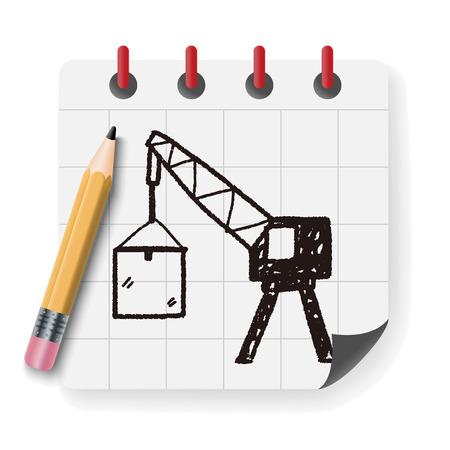 marine industry: crane doodle