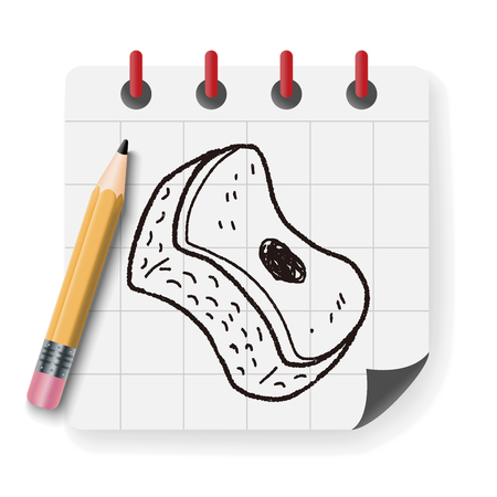 pad: scouring pad doodle Illustration