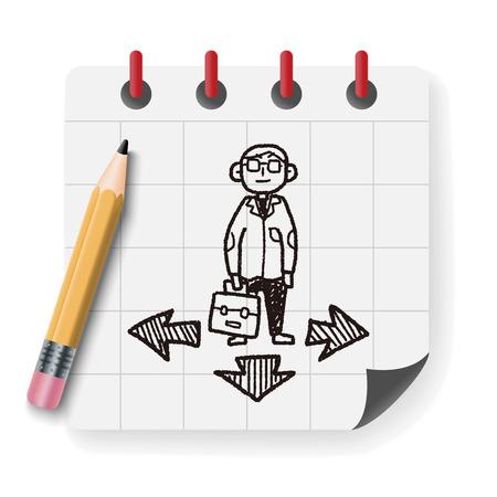 Geschäfts Weg doodle