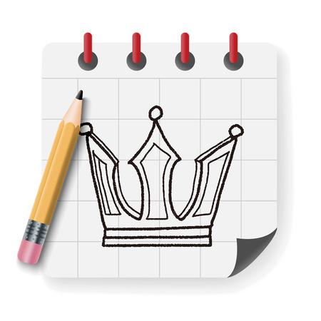 coronation: crown doodle Illustration