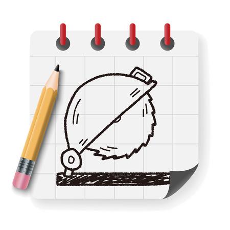circular saw: Circular Saw doodle Illustration