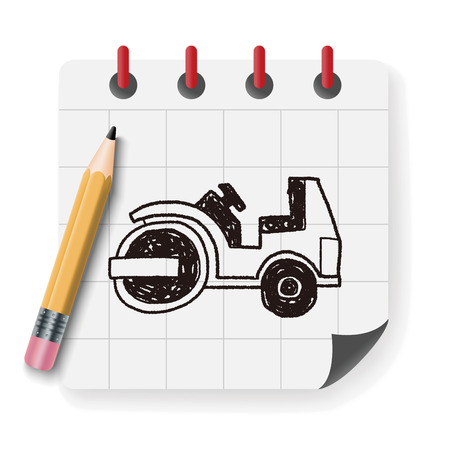 asphalting: truck doodle Illustration