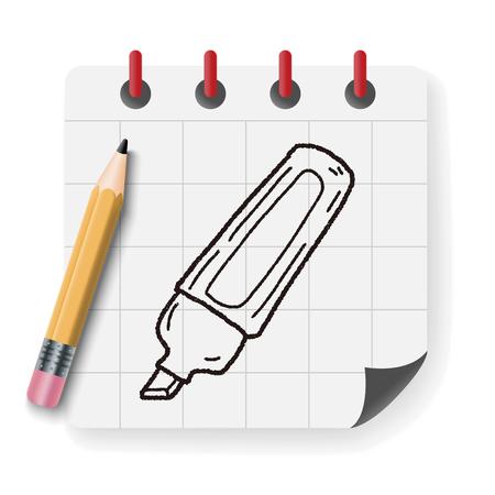 highlighter: highlighter pen doodle Illustration