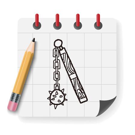 iron: iron mace doodle