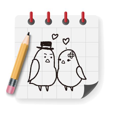 love bird: love bird doodle Illustration