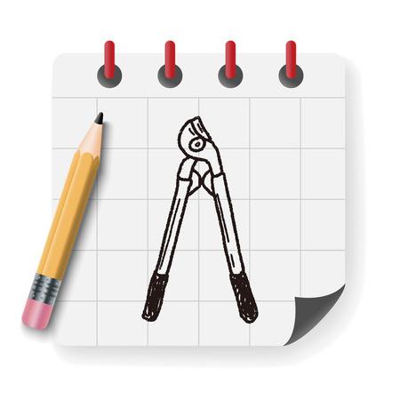 tree trimming: scissor doodle