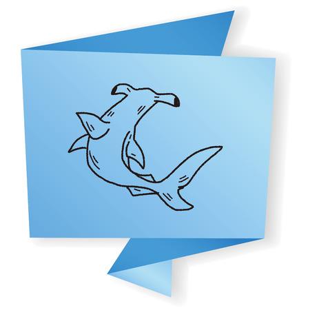 hammerhead: Hammerhead doodle de tibur�n Vectores