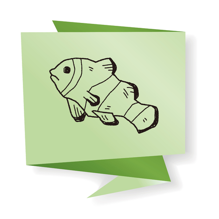 clownfish: Doodle de Pez payaso Vectores