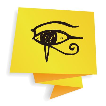 ojo de horus: Doodle ojo faraón