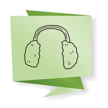 ear muffs: earmuffs doodle Illustration