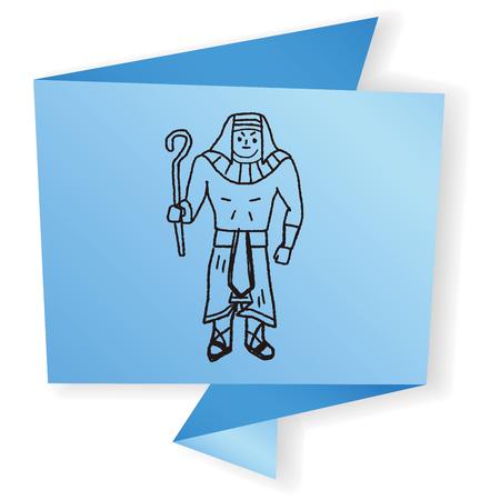 pharaoh: pharaoh doodle Illustration