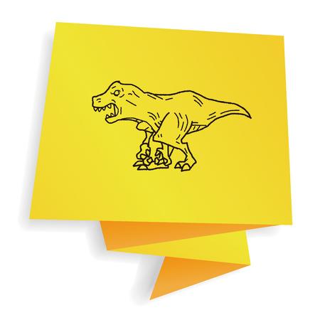 tyrannosaurus: Tyrannosaurus dinosaur doodle Illustration