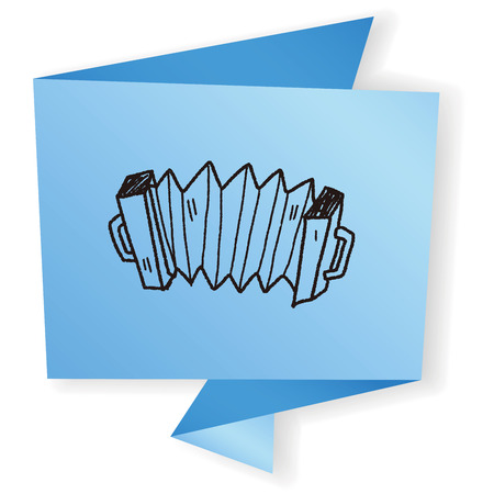an accordion: Acorde�n del doodle Vectores