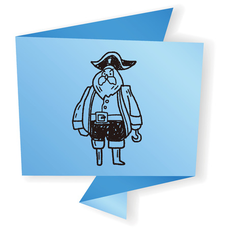 sea robber: pirate captain doodle
