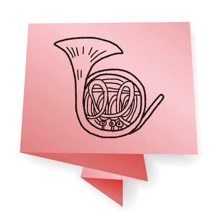 french horn: French Horn doodle