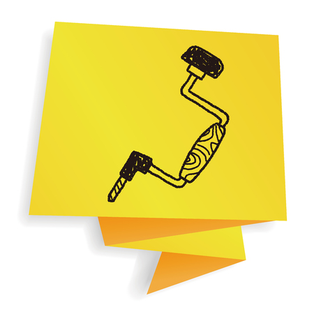 drill: drill doodle Illustration
