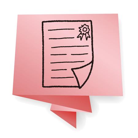 prove: Certificate doodle