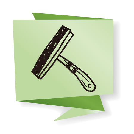 squeegee: squeegee doodle Illustration