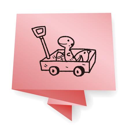 pull toy: juguete carrito garabato