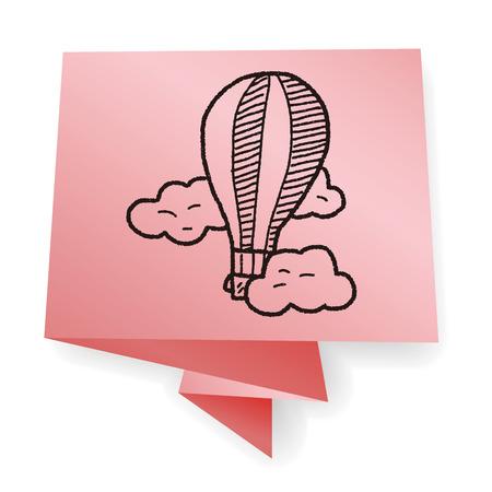 air: doodle hot air balloon Illustration