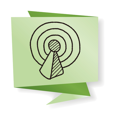 wireless internet: wireless internet icon doodle
