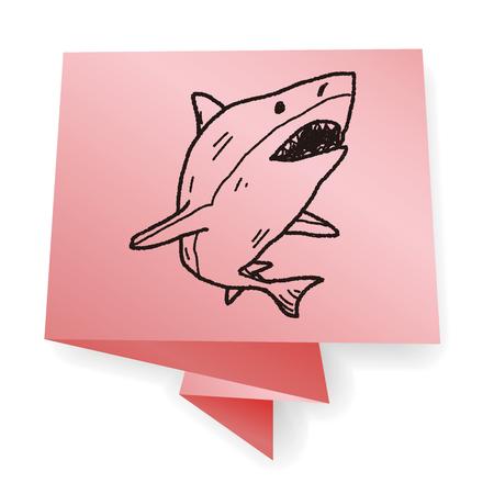 dangerous ideas: shark doodle Illustration