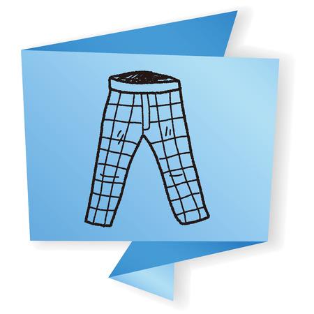back pocket: pant doodle Illustration