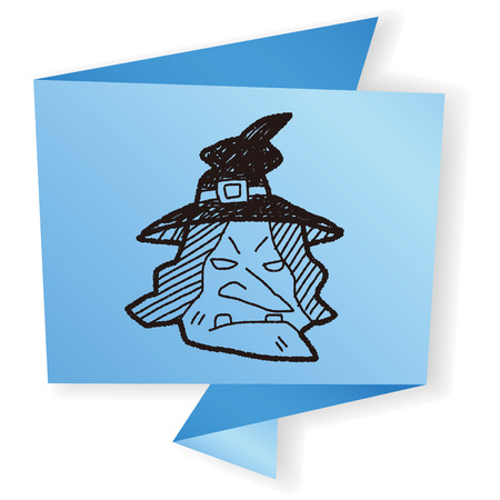 flying hat: witch hat doodle