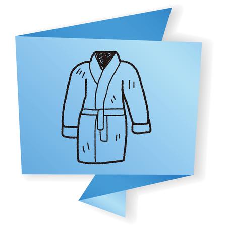 back belt: bathrobe doodle
