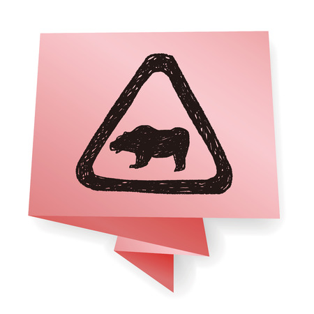 pictogram attention: bear sign doodle