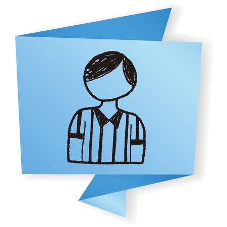 referee: referee doodle Illustration