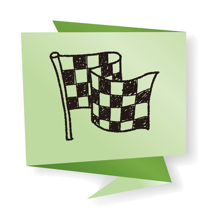 racing checkered flag crossed: racing flag doodle