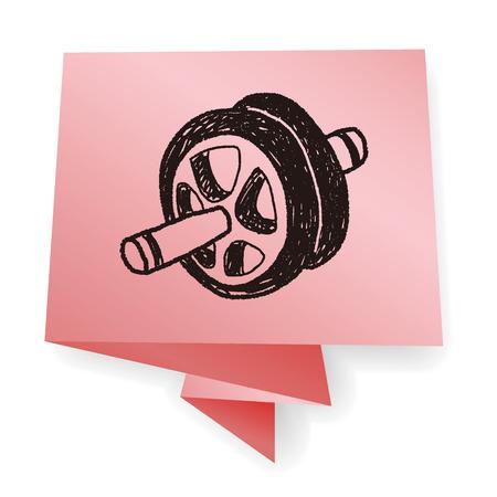 roller: roller doodle Illustration