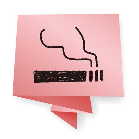 ashes: cigarette doodle