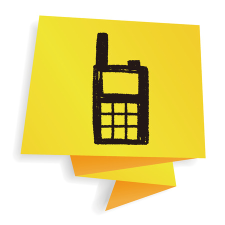 transmit: handheld transceiver doodle