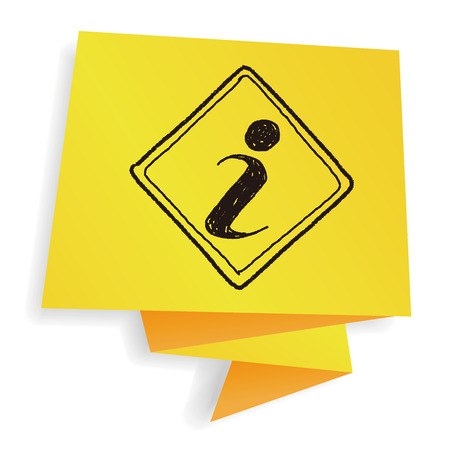 inform information: information sign doodle