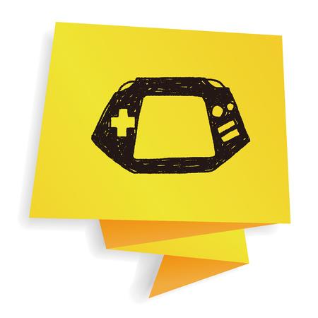 joy pad: Doodle Consoles Illustration