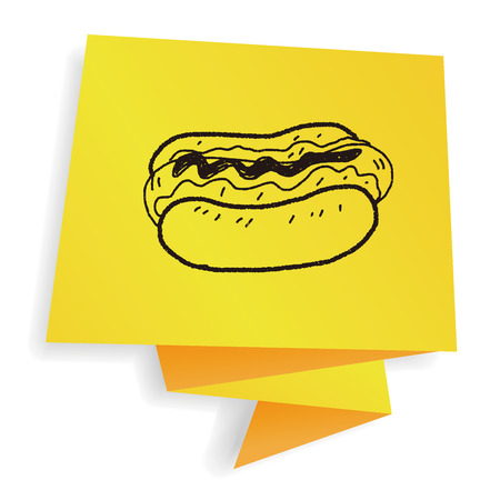 hot dog: hot dog doodle Illustration