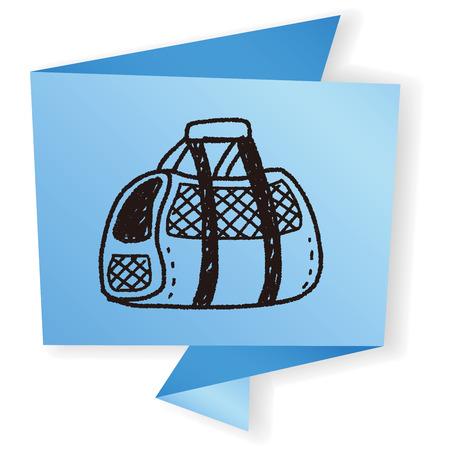 carrier: doodle pet carrier Illustration