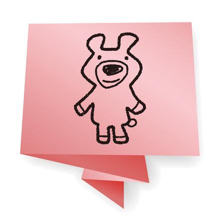 bear doll: Doodle Bear Doll Illustration