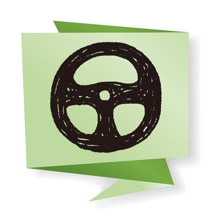 Doodle Steering wheel Illustration