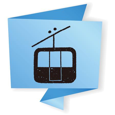 cable car: doodle cable car