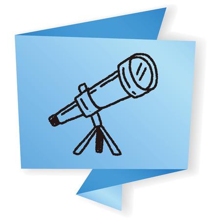 telescope: Doodle Telescope Illustration