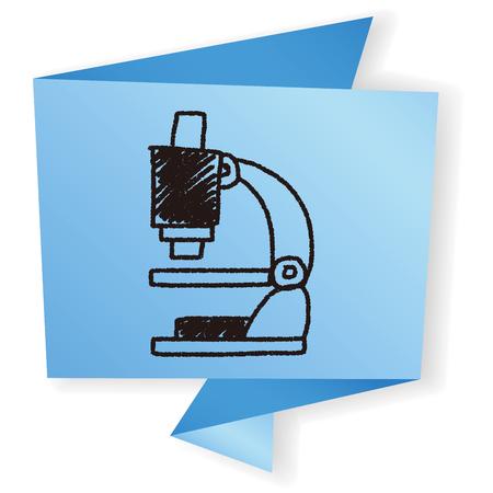 microscopio: Doodle Microscopio