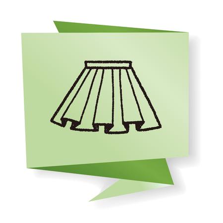 pleated: doodle pleated skirt Illustration