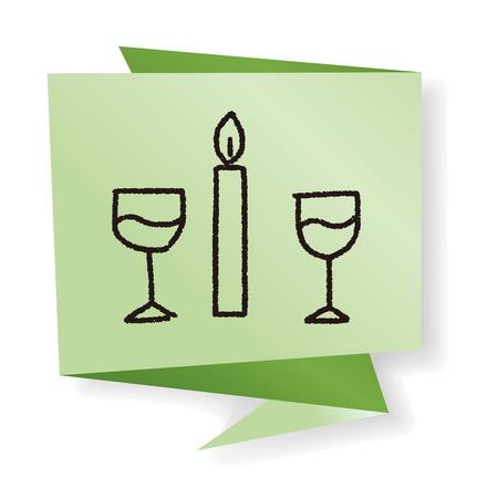 heart burn: doodle candlelight dinner